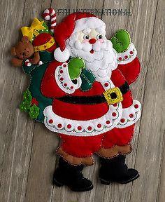 Bucilla aquí viene Santa ~ Fieltro Navidad Colgante De Pared Kit #86737, juguetes, 2016