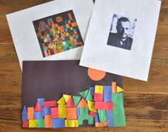 """Klee inspired pictures with shapes ("""",)"""