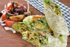 Chicken Tikka Caesar Wrap - Burgundy Box