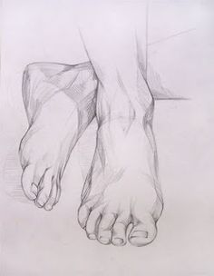 Drawing The Human Figure - Tips For Beginners - Drawing On Demand Feet Drawing, Body Drawing, Drawing Poses, Life Drawing, Painting & Drawing, Human Anatomy Drawing, Human Figure Drawing, Figure Sketching, Pencil Art Drawings