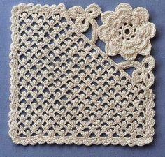 Ivelise Feito à Mão: Square De Crochê