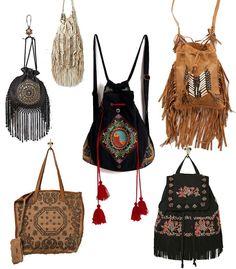 Bolsos y mochilas para un look BOHO más completo.