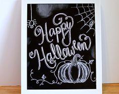 Chalkboard Welcome Print Chalkboard Art by Sugarbirdprints