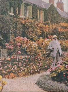 claude monet in giverny, date unknown