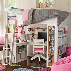 gir pink bedroom study loft bed design The Amazing of Loft Beds For Girls Ideas for Saving Space in Your Girl's Rooms