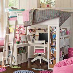 teen girls loft bed with desk | pink bedroom study loft bed design The Amazing of Loft Beds For Girls ...