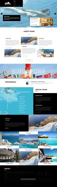 Rofayda is a multi-page website and a theme Multipurpose. The site has been designed for travel agency , tour operator, travel blog , but thanks to his creative graphics, simple, modern, flat and clean well suited to any business
