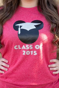 "Mickey Mouse Graduation Cap Shirt - ""Class of 2016""  - (You Choose Shirt Color)  Disney Grad Night Disneyland by DeepNTheHeartODisney on Etsy https://www.etsy.com/listing/265208561/mickey-mouse-graduation-cap-shirt-class"