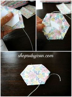 DIY Paper Piecing Hexagons