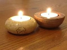 Image result for woodturning tea lights