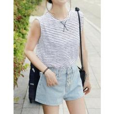 Sleeveless Striped Top  from #YesStyle <3 J.ellpe YesStyle.com