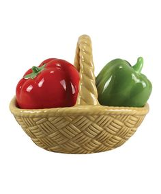 Look at this #zulilyfind! Ceramic Bell Pepper Salt & Pepper Shaker Set #zulilyfinds