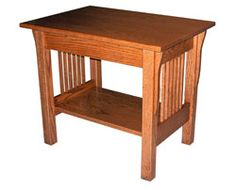 Amish Outlet Store : Prairie Mission End Table in Q.S. White Oak
