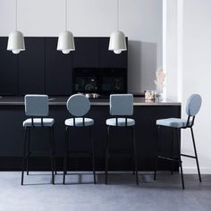 Inspired by primary forms, the Puik's Option bar stool is part of the playful Option series created with just two simple shapes, circles and squares. There's more than meets the eye with the Option series, every new combination of chairs feels fresh and different. Available in a range of colours and four different designs, inviting you to clash or match if you prefer. These bar stools (available in two heights) are ideal for modern kitchens and breakfast bars. The Option series also includes the Built In Furniture, Small Furniture, Furniture Design, Kitchen Stools, Kitchen Island, Kitchen Decor, Internal Doors, Rustic Interiors, Modern Kitchens