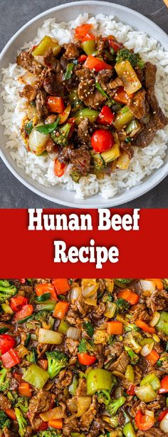 Hunan Beef might already be one of your go-to dishes when ordering Chinese takeout. If it isn't, be ready to be swept off your feet. Best Dinner Recipes, Lunch Recipes, Cooking Recipes, Amazing Recipes, Breakfast Recipes, Beef Steak Recipes, Ground Beef Recipes, Easy Family Dinners, Weeknight Dinners