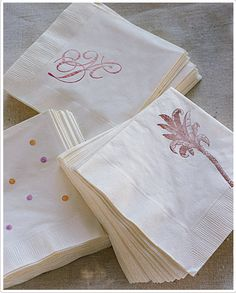I want to have little polka dots applied to the napkins for drinks since polka dots are the overall theme along with 50s.