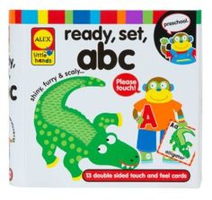 Early Learning, Ready, Set, Touch and Feel Flash Cards, ABC, I am NOT a fan of abc toys for children. However if you know the phonics of the letters I would recommend this.