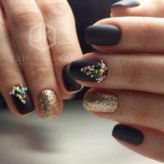 Matte black nails photo