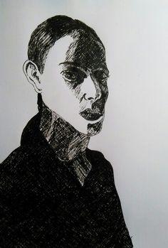 Dessin feutre drawing faces