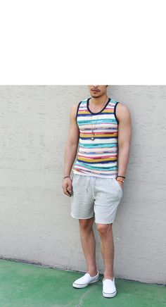 Tops :: Vibrant Slim Fit Knit Tank-Tank 11 - Mens Fashion Clothing For An Attractive Guy Look