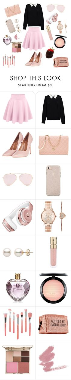 """Preppy"" by oliviavalente ❤ liked on Polyvore featuring Essentiel, Topshop, Chanel, Beats by Dr. Dre, Michael Kors, Smith & Cult, Vera Wang, MAC Cosmetics, Bdellium Tools and Pinch Provisions"