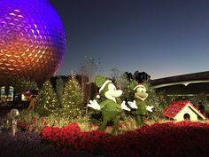 """Epcot during the holidays is absolutely fun for all-- no matter what you celebrate. Come visit our page and get started celebrating """"Holiday's Around the World"""". http://www.allears.net #Christmastime #WDW #WaltDisneyWorld #Epcot #WorldShowcase #HolidaysatDisney"""