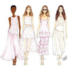 Illustration by Joanna Baker Beautiful pinks and pales @houseofherrera  final…