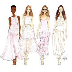 Illustration by Joanna Baker Beautiful pinks and pales @houseofherrera  final…