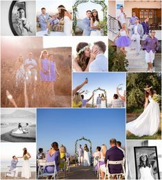 Lilac and lemon themed wedding, once again with stunning views .Link in description. Crete, Real Weddings, Lilac, Wedding Planner, Lemon, Polaroid Film, Product Description, Image, Wedding Planer