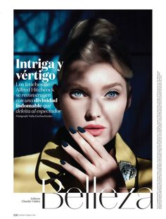 Elsa Hosk has a face made for the movies in the December 2016 issue of Vogue Mexico.