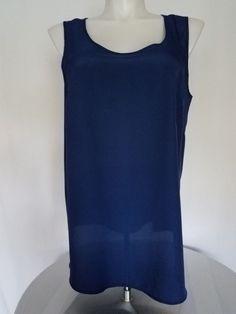 00e6e149190 sleeveless blouse for woman size Faded Glory berry blue color