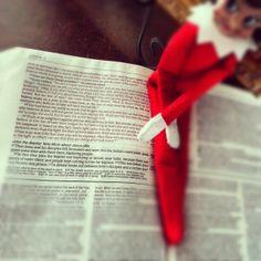 Bible verse, john 3; 16 and the Elf on the Shelf