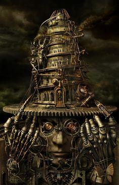 """Kazuhiko Nakamura's art is a surreal hybrid of man and machine, a hard marriage of metal and flesh."""