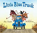 Little Blue Truck: Beep! Beep! Beep! Meet Blue. A muddy country road is no match for this little pick up—that is, until he gets stuck while pushing a dump truck out of the muck. Luckily, Blue has made a pack of farm animal friends along his route. And they're willing to do whatever it takes to get their pal back on the road.  Filled with truck sounds and animals noises, here is a rollicking homage to the power of friendship and the rewards of helping others.