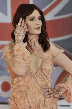 Florence at the Brit awards Florence The Machines, Florence Welch, Awards, Ruffle Blouse, Singer, Dresses, Women, Music, Fashion