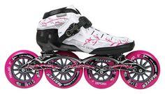 powerslide core triple pure inline speed skate, core triple pure skate with powerslide z frame and z wheels Roller Derby, Roller Skating, Inline Speed Skates, Inline Skating, Baby Strollers, Sneakers Nike, Bike, Pure Products, Longboards