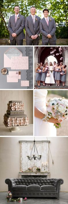 Pink and Grey - perfect combo of masculine and feminine!