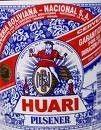 Cerveja Huari, estilo Standard American Lager, produzida por Cerveceria Boliviana Nacional S.A., Bolívia. 3.9% ABV de álcool.