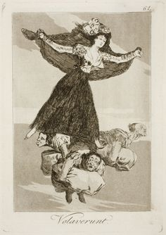 "Francisco de Goya: ""Volaverunt"". Serie ""Los caprichos"" [61]. Etching, aquatint and drypoint on paper, 214 x 149 mm, 1797-99. Museo Nacional del Prado, Madrid, Spain"