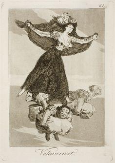 """Francisco de Goya: """"Volaverunt"""". Serie """"Los caprichos"""" [61]. Etching, aquatint and drypoint on paper, 214 x 149 mm, 1797-99. Museo Nacional del Prado, Madrid, Spain"""