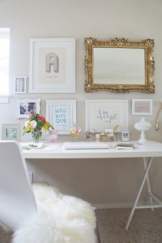 White office space for the home.