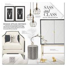 """""""Sass & Class"""" by justlovedesign ❤ liked on Polyvore featuring interior, interiors, interior design, home, home decor, interior decorating, Flos and modern"""