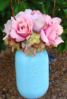 Colored Mason Jar: