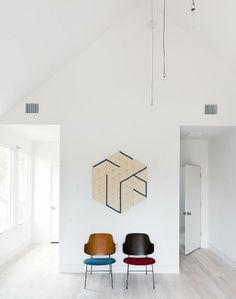 I like the chairs in this house, especially these Kofod Larsen ones
