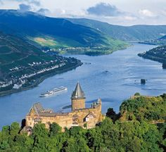 Rhine River, a popular bicycle touring route.