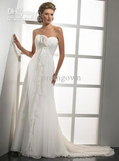 Custom made waist small train pregnant wedding dresses maternity dresses gown bride dress 825