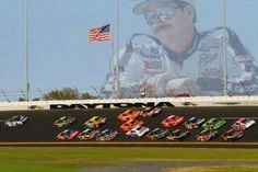 The Intimidator watching the Race from Above!