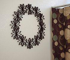 Toilet Paper Roll Flower Wreath