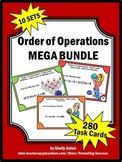 Order of Operations BUNDLE 5th 6th Grade Math Task Cards G