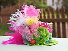 Mini Top Hat  Alice in Wonderland  - Photo Prop - Birthday Top Hat - Summer Hat via Etsy